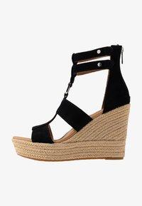 UGG - KOLFAX - Sandály na vysokém podpatku - black - 1