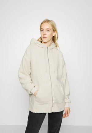 PCKAREN HOODIE - Fleece jacket - buttercream