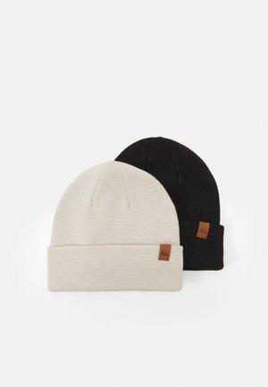 2 PACK - Beanie - black/off-white