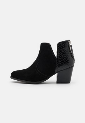 WIDE FIT CLOUDY - Ankle boots - black