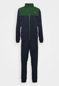 TENNIS TRACKSUIT - Dres - green/navy blue/white