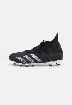 PREDATOR FREAK .3 MG - Moulded stud football boots - core black/footwear white