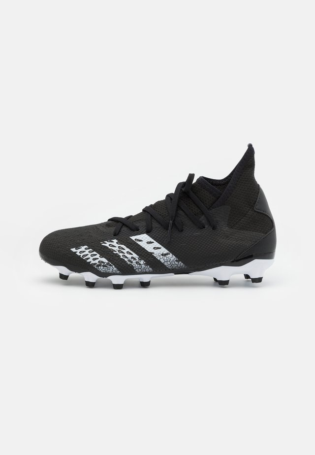 PREDATOR FREAK .3 MG - Botas de fútbol con tacos - core black/footwear white