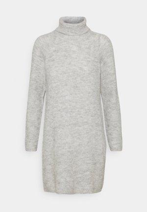 PCELLENHIGH NECK DRESS - Jumper dress - light grey melange