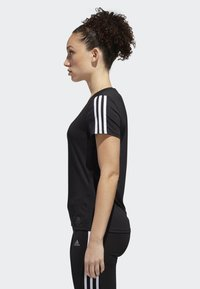 adidas Performance - RUNNING 3-STRIPES T-SHIRT - T-Shirt print - black - 2