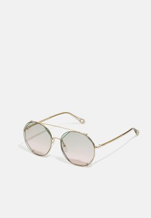 Gafas de sol - gold-coloured/havana/green
