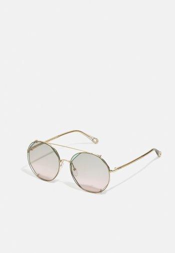 Sunglasses - gold-coloured/havana/green