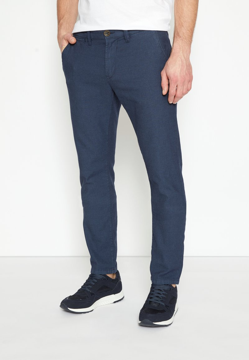 TOM TAILOR - STRUCTURE - Chinos - blue two tone