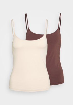 MICRO 2 PACK - Caraco - nude/brown