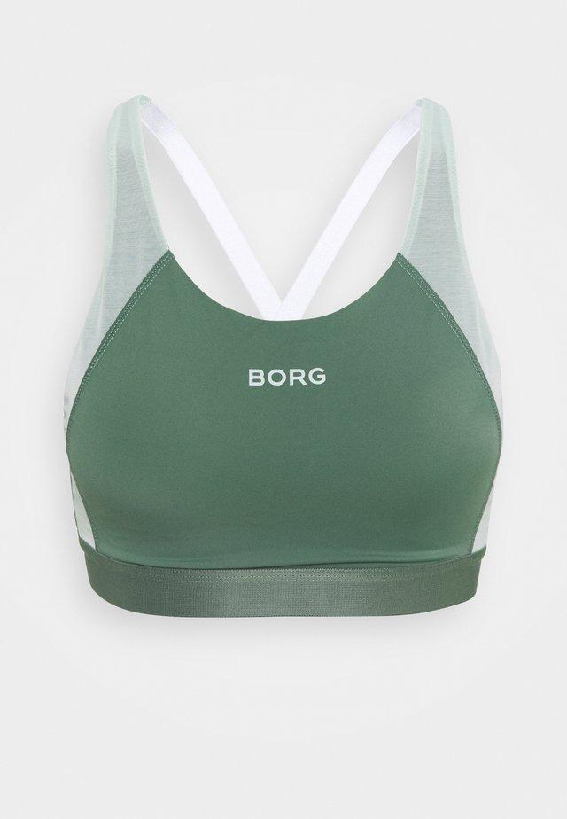 SEASONAL SOLID SUKI ADJUSTABLE MEDIUM - Sports bra - duck green