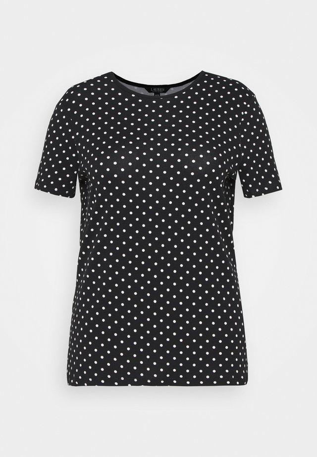 ALLI SHORT SLEEVE - T-shirt imprimé - black/white