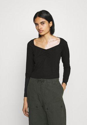 MONIQUE - Long sleeved top - black