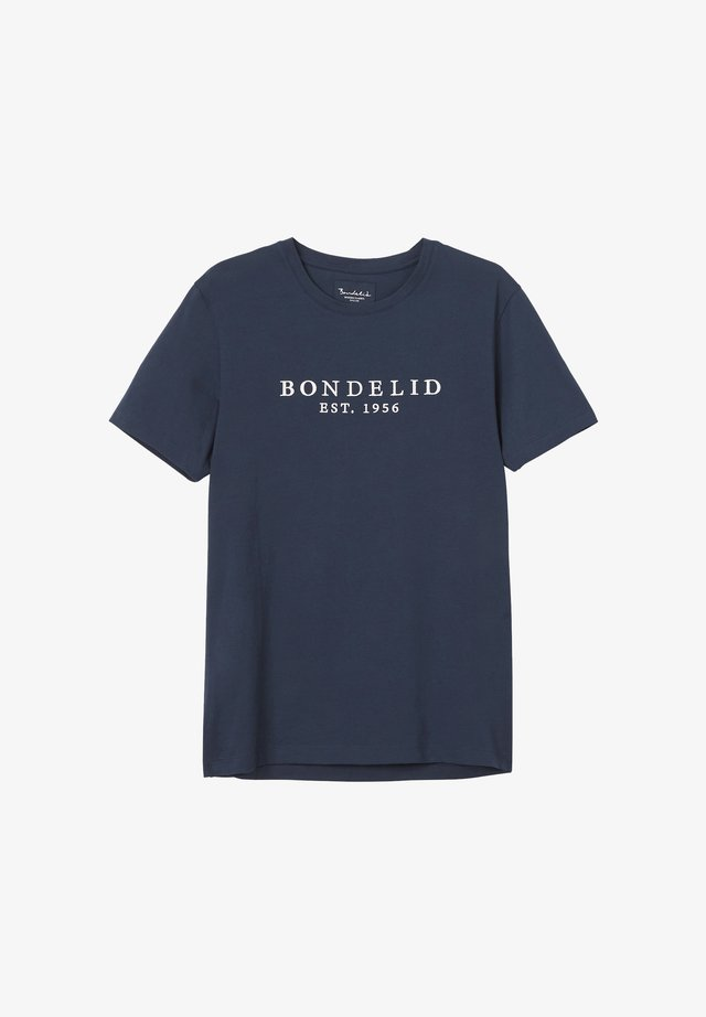 FLETCHER LOGO TEE - T-shirt med print - navy blazer