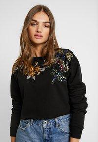 Topshop - FLOWER - Sweatshirt - black - 3