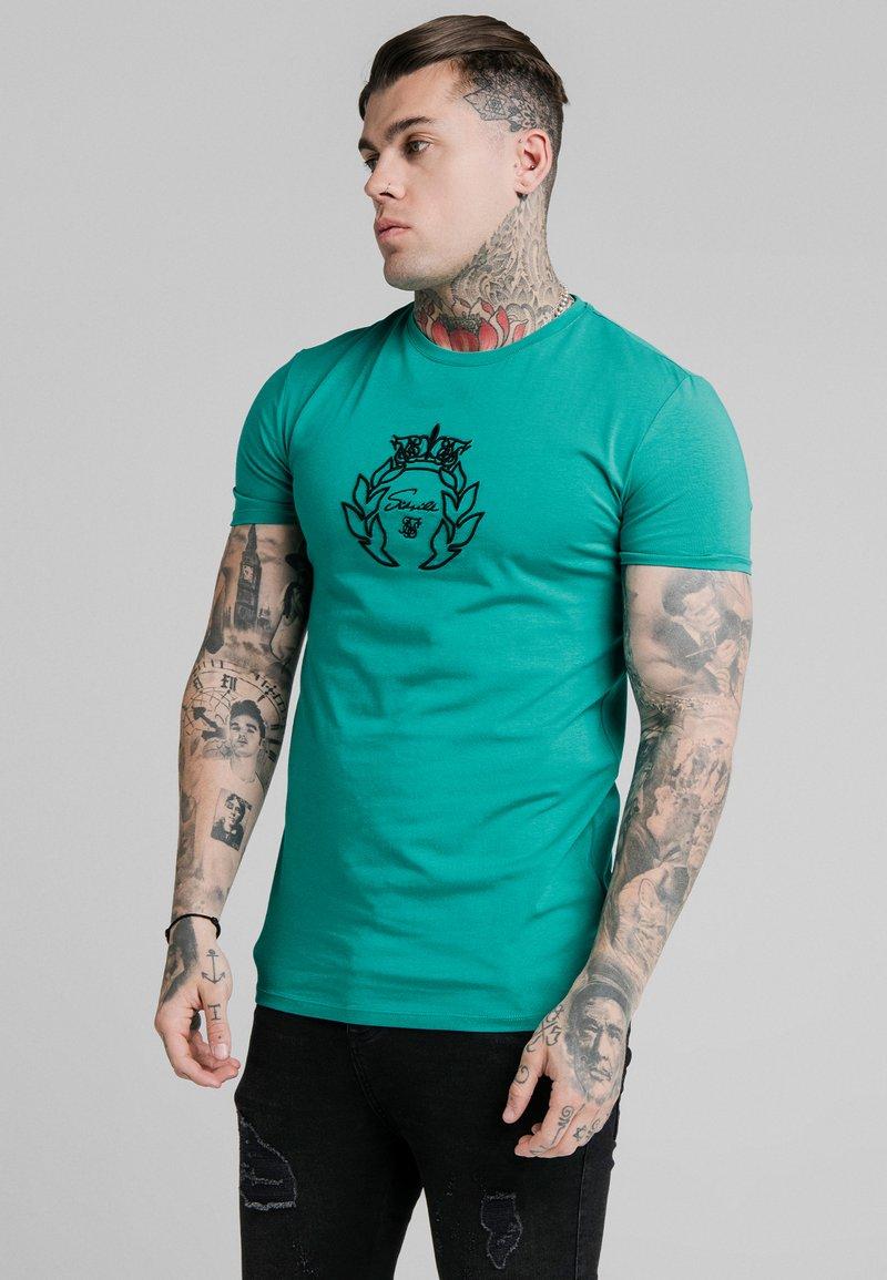 SIKSILK - PRESTIGE GYM TEE - Print T-shirt - teal