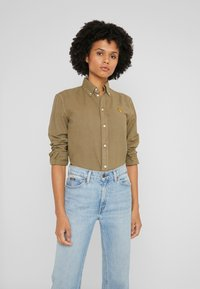 Polo Ralph Lauren - RELAXED LONG SLEEVE SHIRT - Button-down blouse - olive - 0