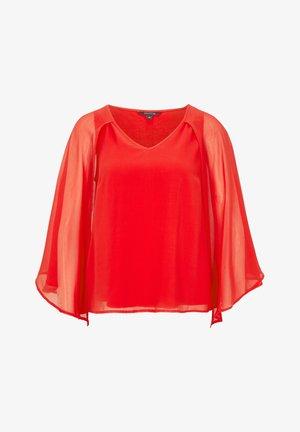 MIT CHIFFON-CAPE - Blouse - milky red