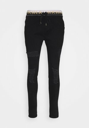 SIKSILK DELUXE LOW RISE - Vaqueros pitillo - black