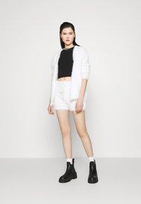 Miss Selfridge - EYELASH KNIT SHORT - Shorts - cream - 1