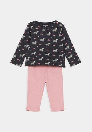 SET - Legging - dark grey/light pink