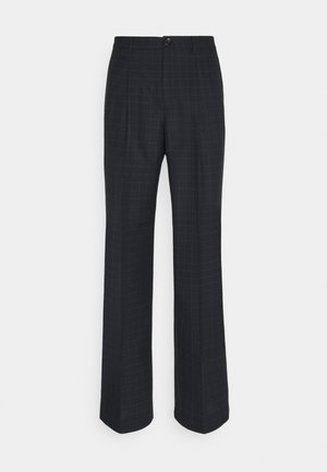 MENS TROUSER WIDE LEG - Pantaloni eleganti - black