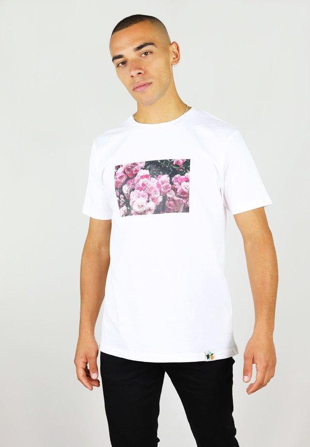 ROSE GARDEN TEE - T-shirt print - white