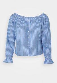 ONLY - ONLMARTHA OFFSHOULDER - Blouse - cashmere blue/cloud dancer - 1