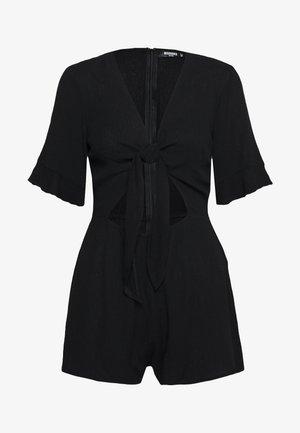 TIE FRONT KIMONO SLEEVE PLAYSUIT - Jumpsuit - black