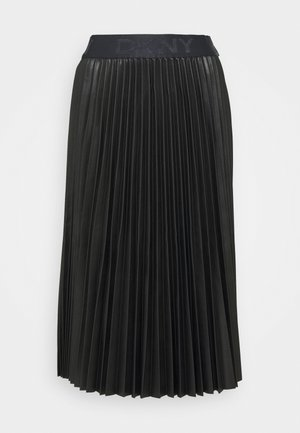 PULL ON PLEATED SKIRT - A-line skirt - black