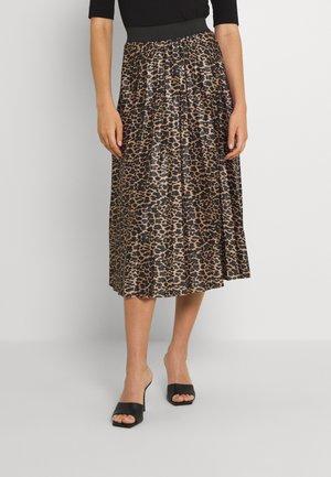 VINITBAN SKIRT - Pleated skirt - tigers eye