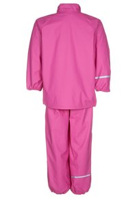 CeLaVi - RAINWEAR SUIT BASIC SET WITH FLEECE LINING - Kalhoty do deště - real pink - 2
