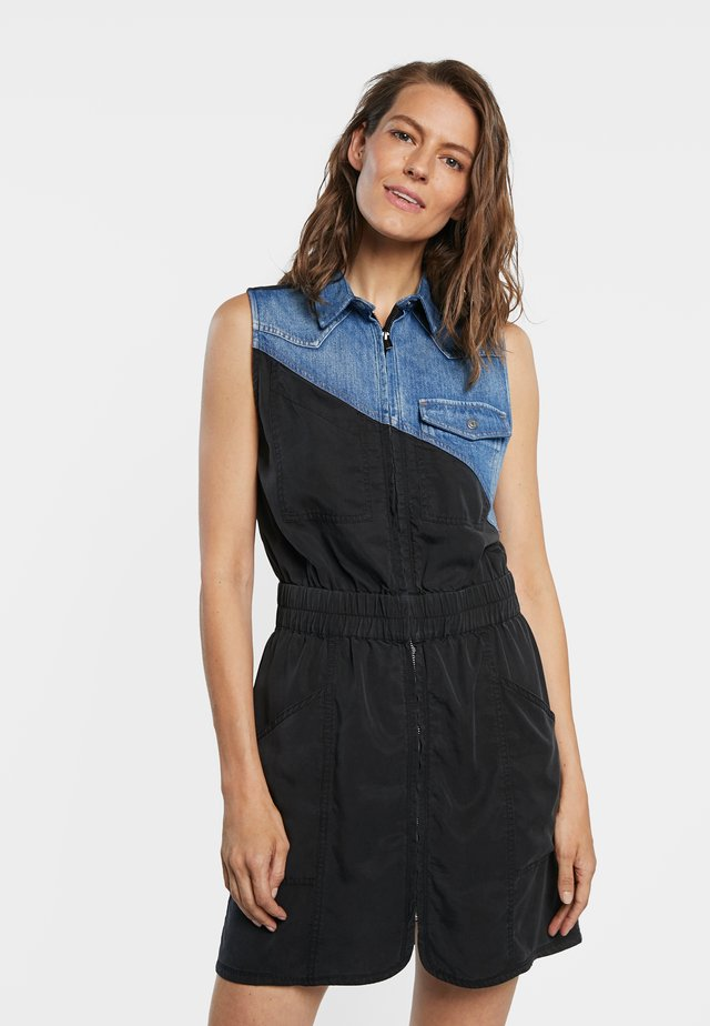 SIDNEY - Denimové šaty - black