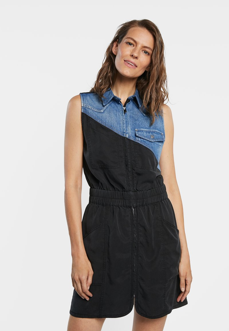 Desigual - SIDNEY - Denim dress - black