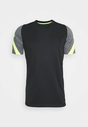 DRY STRIKE - Camiseta estampada - black/smoke grey/black/volt