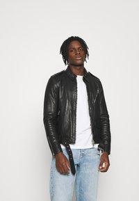 AllSaints - MONZA JACKET - Leather jacket - black - 0