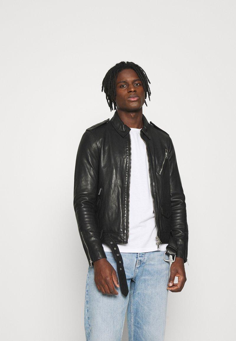 AllSaints - MONZA JACKET - Leather jacket - black