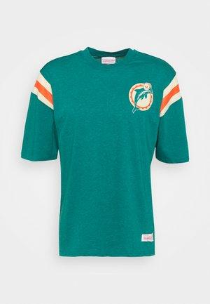 NFL MIAMI DOLPHINS EXTRA INNINGS TEE - Klubové oblečení - dolphins blue