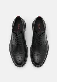 HUGO - LUXITY - Šněrovací boty - black - 3
