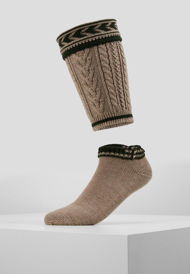 LOFERL SET - Knee high socks - braun/tanne