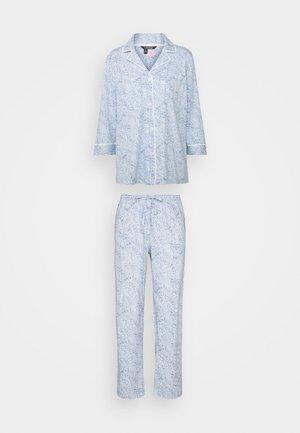 CLASSIC 3/4 SLEEVE NOTCH COLLAR - Pyjama - blue pais