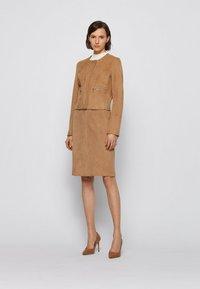 BOSS - Leather jacket - beige - 1