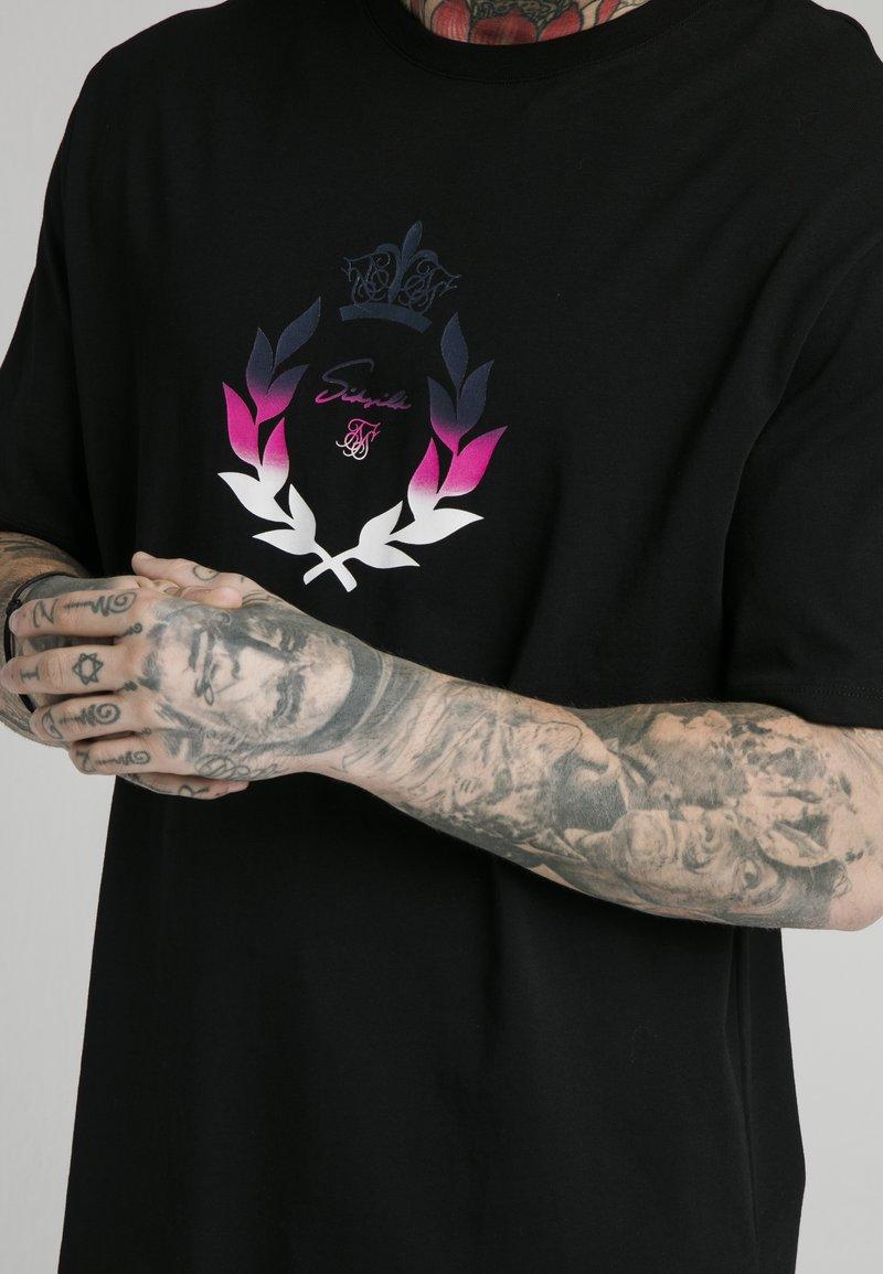 SIKSILK T-Shirt print - black/schwarz HwlkEV