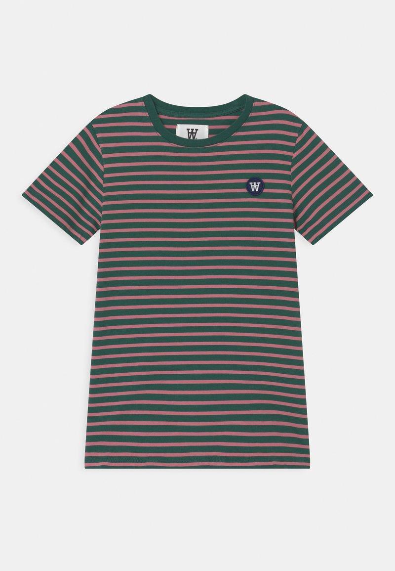 Wood Wood - OLA UNISEX - Print T-shirt - faded green/rose