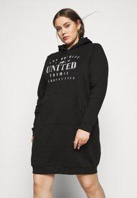 Even&Odd Curvy - SWEAT DRESS - Day dress - black - 0