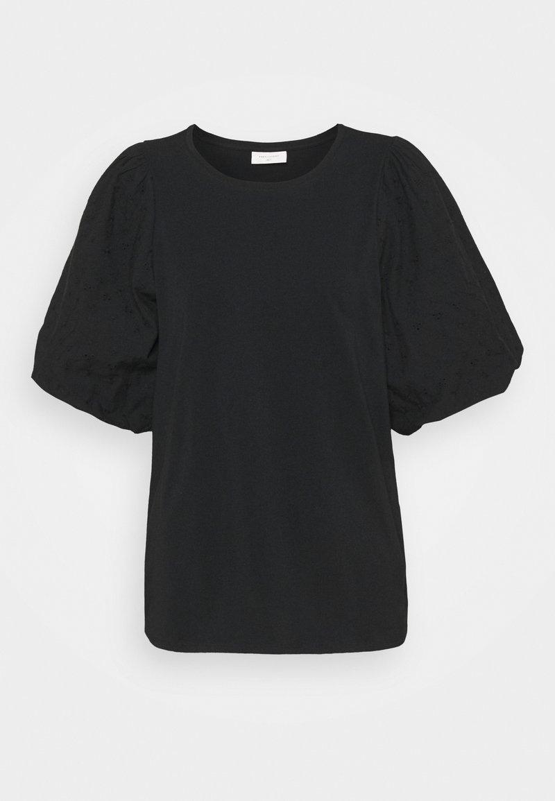 Freequent - VISTA TEE BALLOON - Print T-shirt - black