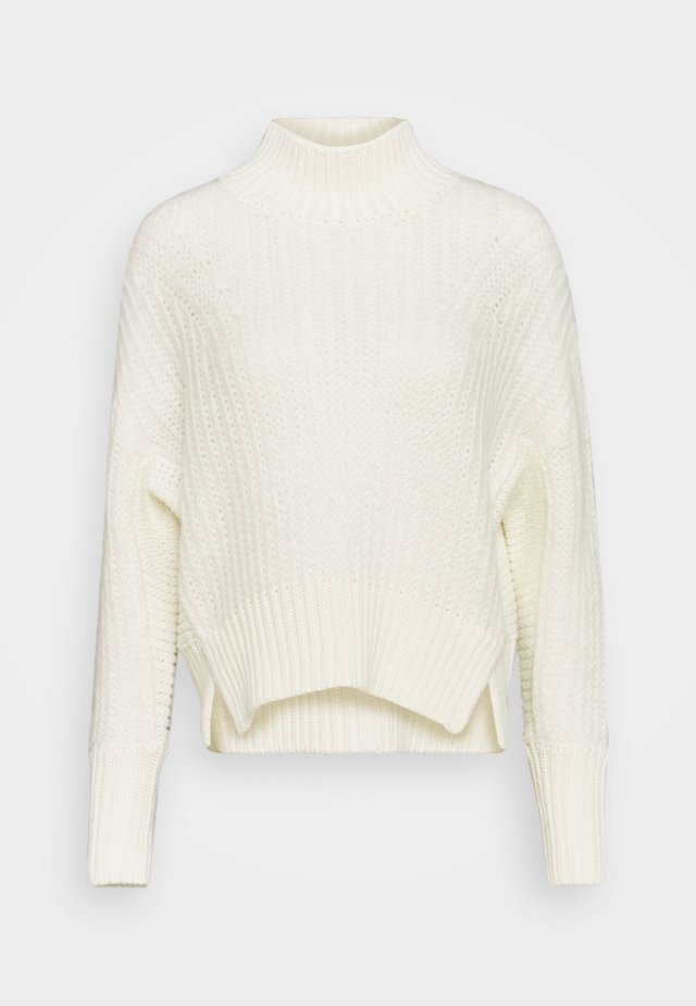 SOFT HIGH NECK PULLOVER - Pullover - icy white