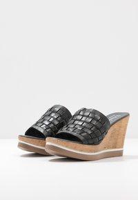 Felmini - MARY - Heeled mules - light black - 4