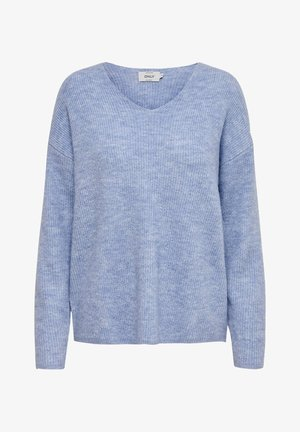 ONLCAMILLA V-NECK - Jersey de punto - light blue