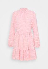 Closet - HIGH COLLAR MINI DRESS - Day dress - blush - 5