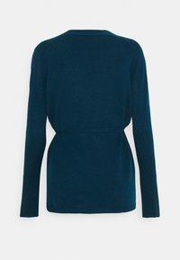 pure cashmere - WRAP CARDIGAN - Cardigan - rich teal - 1